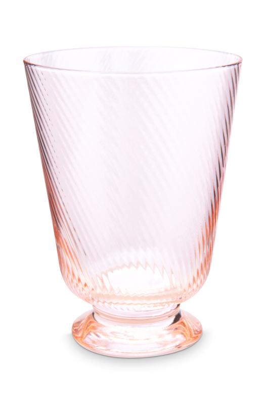 Glas Twisted Roze (360 ml.) - Pip Studio Jolie