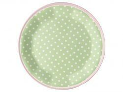 Melamine Bord Spot Pale Green (20,3 cm.) - GreenGate