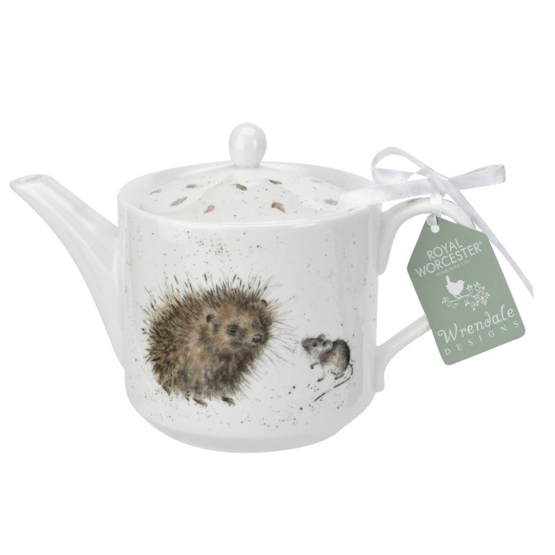 Theepot Hedgehog & Mice (0,6 l.) - Wrendale Designs