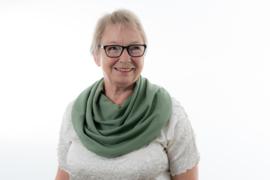Støvgrønt savletørklæde