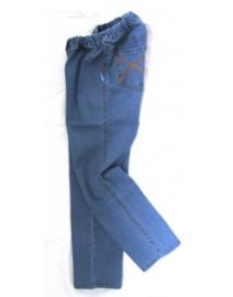 Blå jeans med ekstra plads bagi