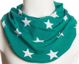 Grønt savletørklæde med hvide stjerner