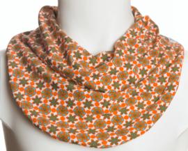 Småblomstret savletørklæde i orange