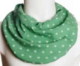 Lys grønt savletørklæde med små stjerner