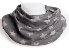 Antracit tørklæde med med lyse stjerner