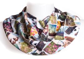 Collage tørklæde