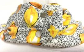 Forårstørklæde med gult print