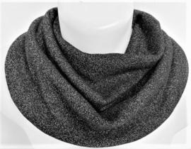 Sort tørklæde med glimmer