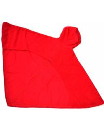 Poncho til kørestolsbrugere rød