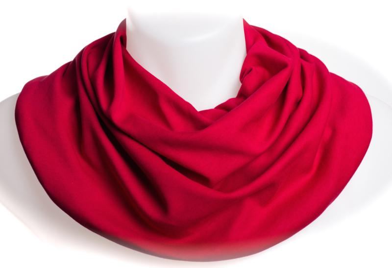 Mørkerødt savletørklæde til voksne