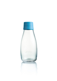 Retap waterfles 300ml met licht blauwe dop