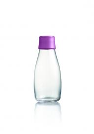 Retap waterfles 300ml met paarse dop
