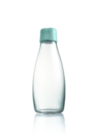 Retap waterfles 500ml met mint blauwe dop
