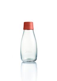 Retap waterfles 300ml met woestijn rode dop