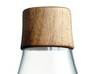 Retap waterfles 800ml met walnoot houten dop