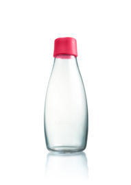 Retap waterfles 800ml met framboos rode dop