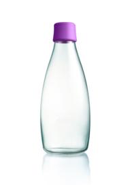 Retap waterfles 800ml met paarse dop