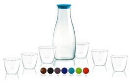 Retap Caraf met 6 Retap Water Glazen (6-de glas gratis t.w.v. €5,95)