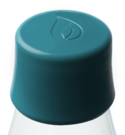 Retap waterfles 500ml met peutroleum groene dop
