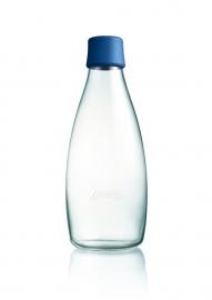 Retap waterfles 800ml met donker blauwe dop