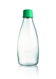 Retap waterfles 800ml met donker groene dop