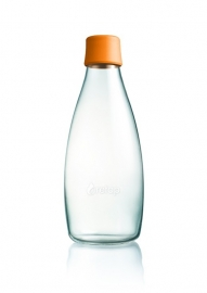 Retap waterfles 800ml met oranje dop