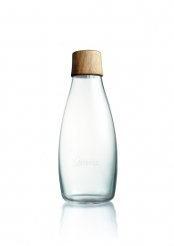 Retap waterfles 500ml met walnoot houten dop