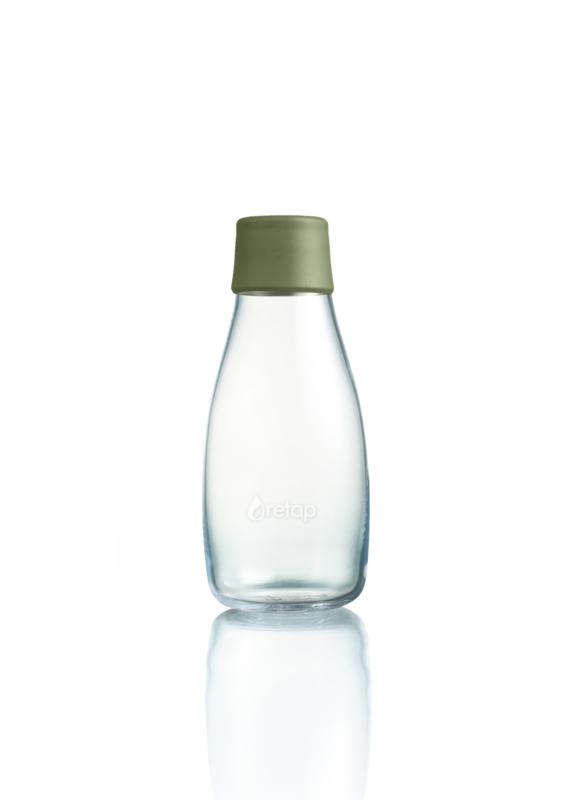 Retap waterfles 300ml met leger groene dop