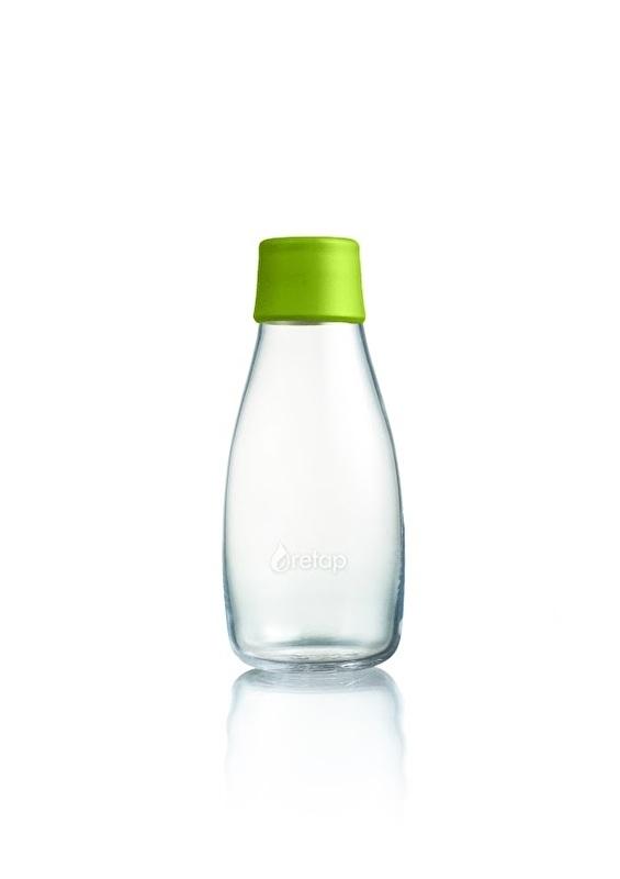 Retap waterfles 300ml met mos groene dop