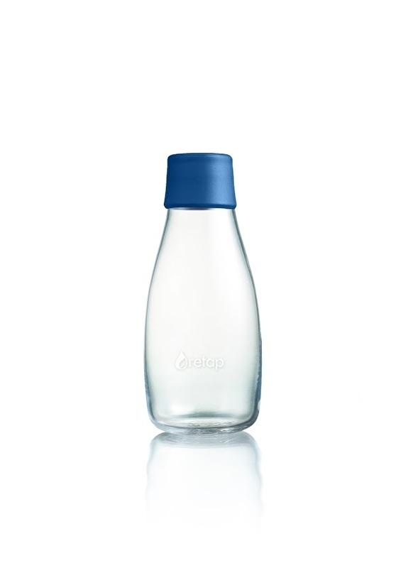 Retap waterfles 300ml met donker blauwe dop
