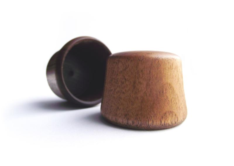 Retap dop walnoot hout