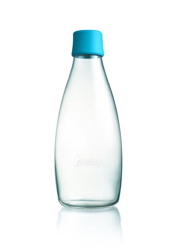 Retap waterfles 800ml met licht blauwe dop
