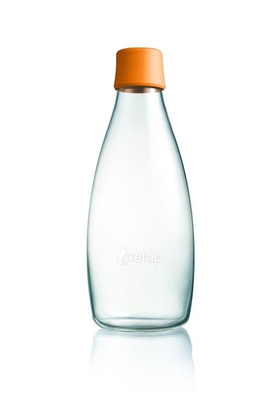 Retap waterfles 800ml met oranje dop