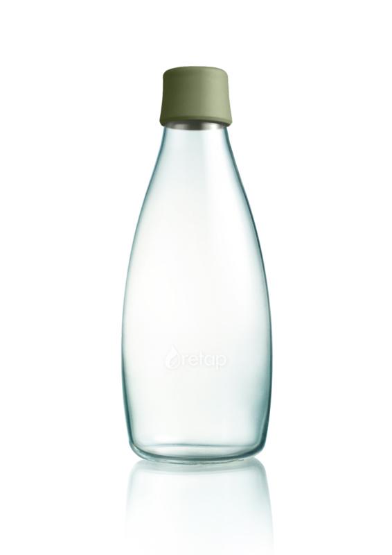 Retap waterfles 800ml met leger groene dop