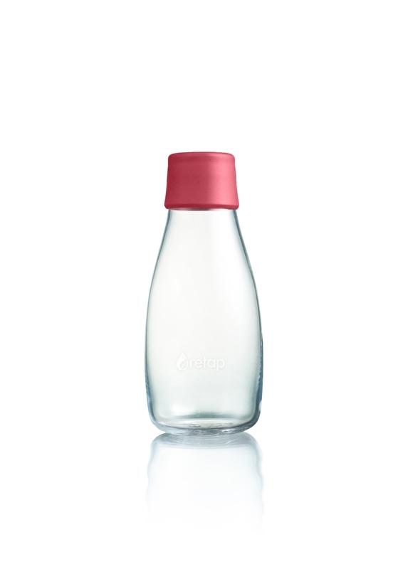 Retap waterfles 300ml met framboos rode dop