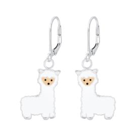Zilveren kinder oorbellen alpaca brisure sluiting