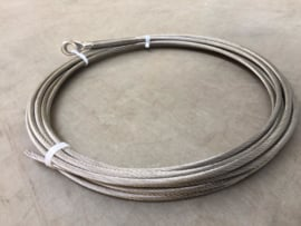 RVS verstaging kabels op maat constructie 1*19 dia 8 mm