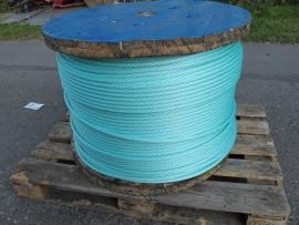Staalkabel met touw ommanteling 14 mm