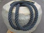 Zwart kabelaring touw 64 mm met touw kern