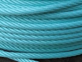 Staalkabel met touw ommanteling 16 mm
