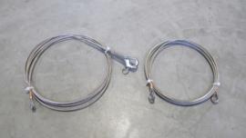 RVS verstaging kabels op maat constructie 1*19 dia 3 mm