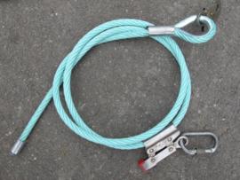 Staalkabel met PP touw ommanteling - Hercules touw