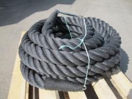 Zwart kabelaring touw 64 mm met RVS kern