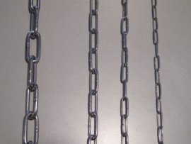 RVS langschalmige ketting    per lengte 30 meter