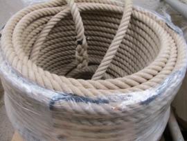 Hennep natuur touw 38 mm