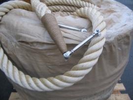 Uitpunten van 64 mm touw