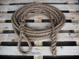 ontsnappings touw 24 mm met lus en afwerking