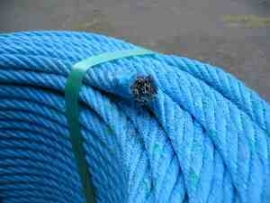 Staalkabel met touw ommanteling 12 mm