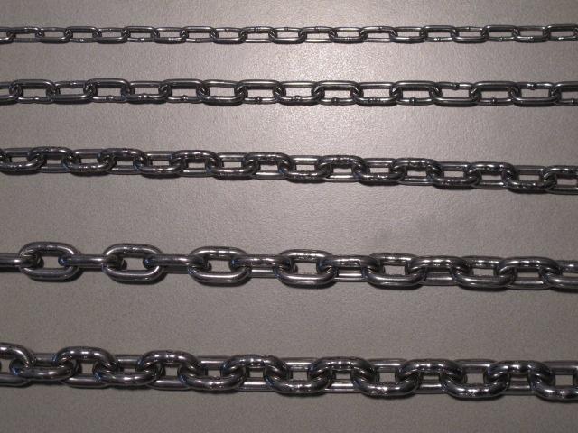 RVS kortschalmige ketting   per lengte 30 meter
