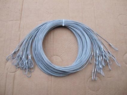PVC omspoten staalkabel voor beveiliging goederen